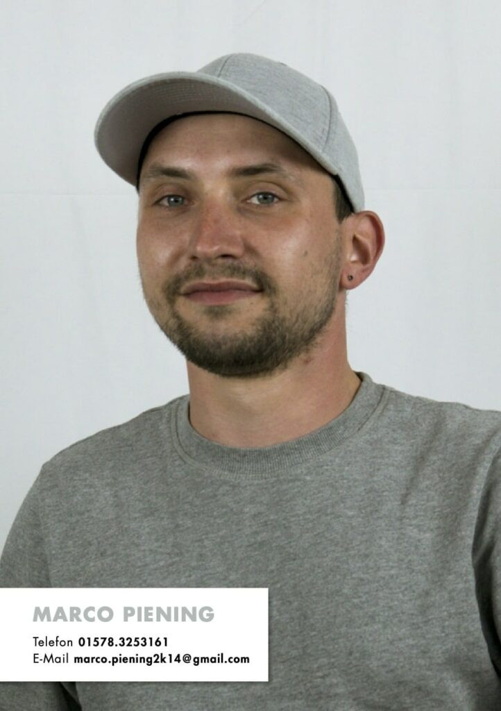 Sedcard Marco Piening