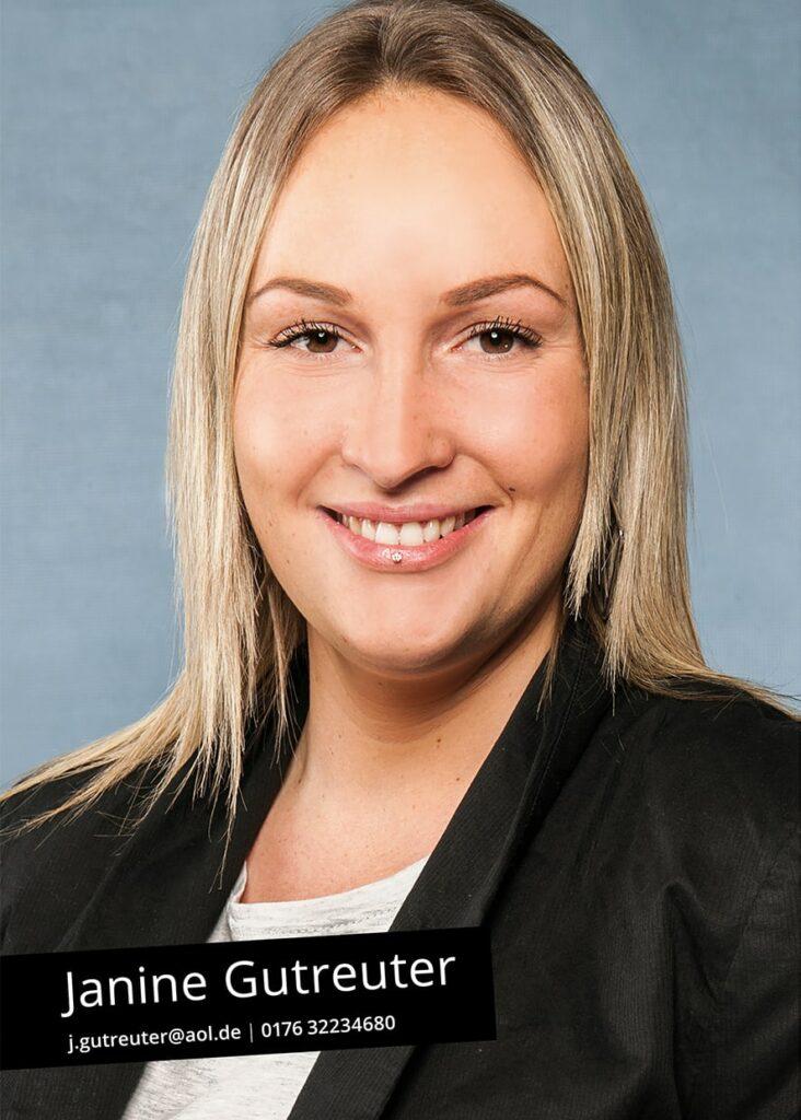 Sedcard Janine Gutreuter