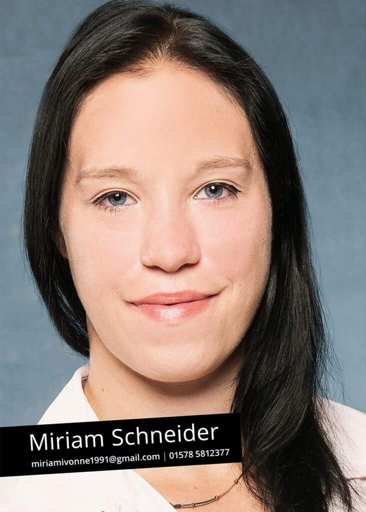 Sedcard Miriam Schneider