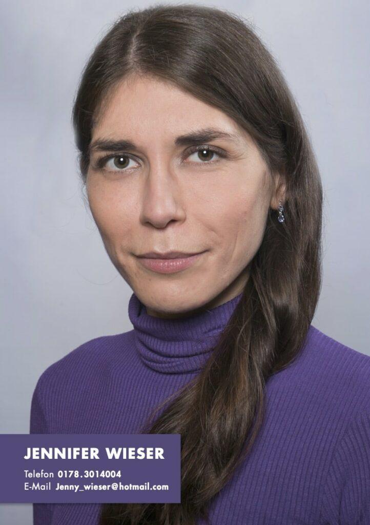 Sedcard Jennifer Wieser